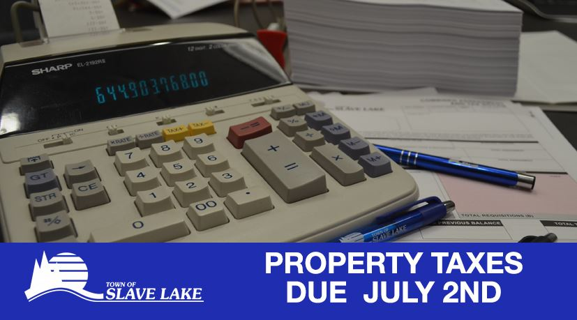 Property taxes due July 2nd
