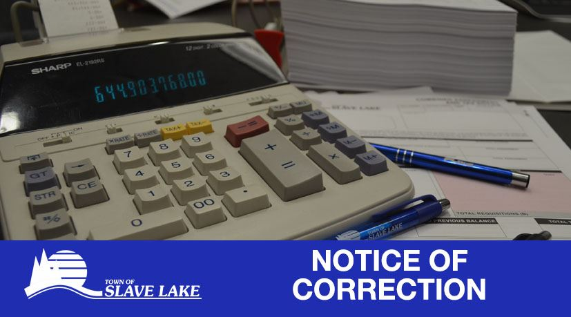 Notice of Correction - Taxes