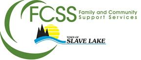 "FCSS Logo which reads, ""FCSS: Family and Community Support Services, Town of Slave Lake."""